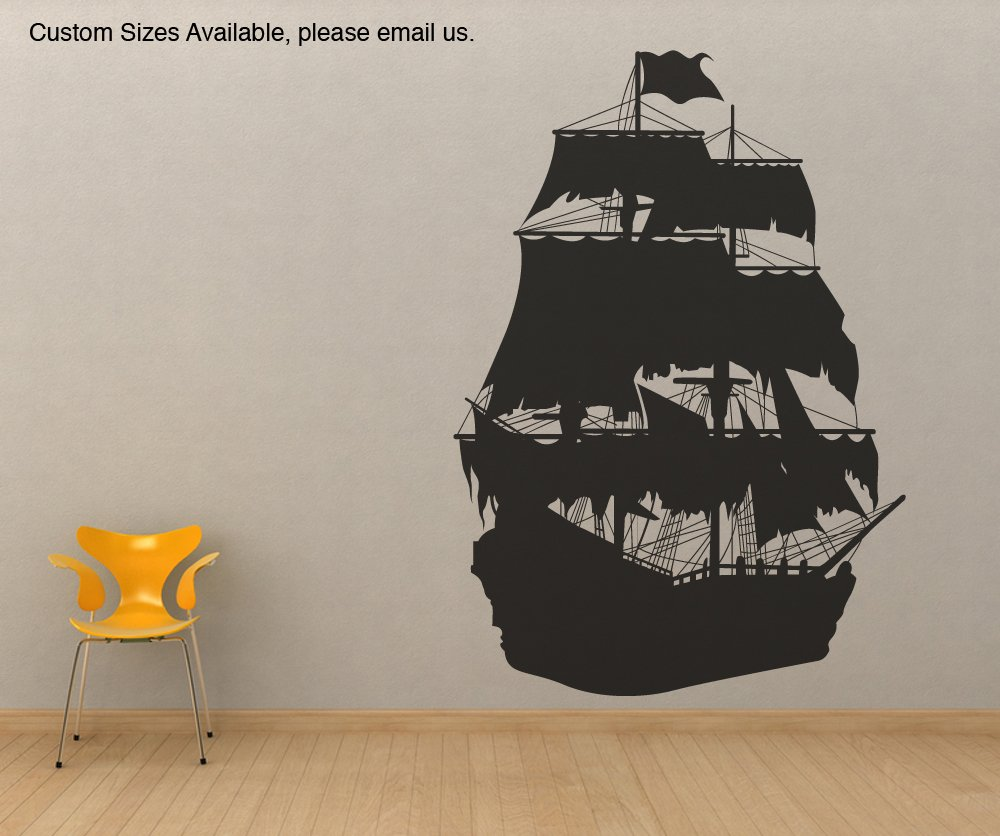 Exceptionnel Amazon.com: Vinyl Wall Decal Sticker Pirate Ship Silhouette Size 36inX25in  Item OS_MB141s: Home U0026 Kitchen