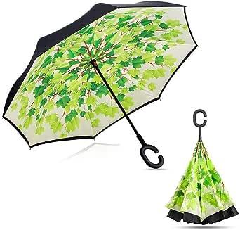 Zeplin Ters Açılan Kuru Kalan Rüzgar Tahliyeli İnovatif Kadın Erkek Şemsiye