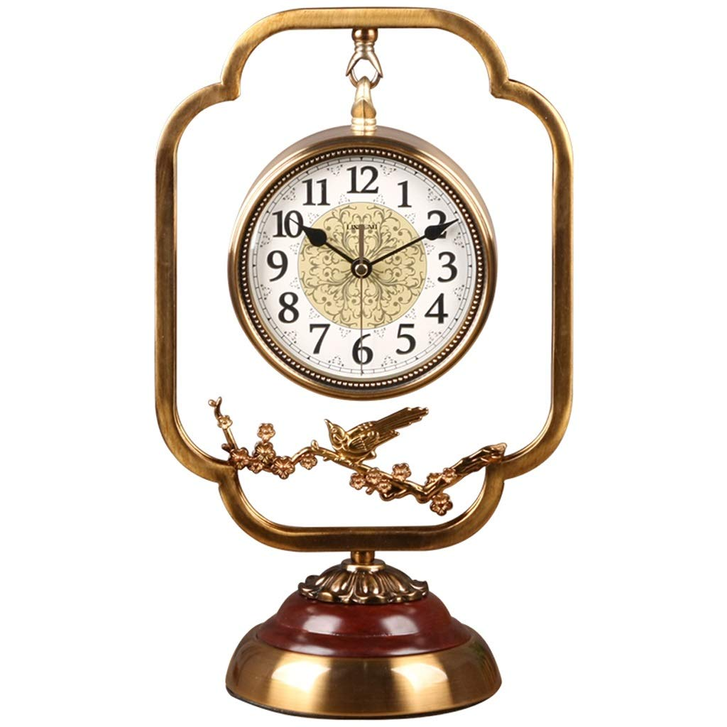 JIAHE115 Jiale Metal Clock-HJCA Home Silent Clock Hotel Office Decoration Table Clock (9.85×16.33 Inches)