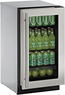 product image for U-Line U2218RGLS00B 3.6 cu. ft. Built-in Refrigerator, Stainless Steel