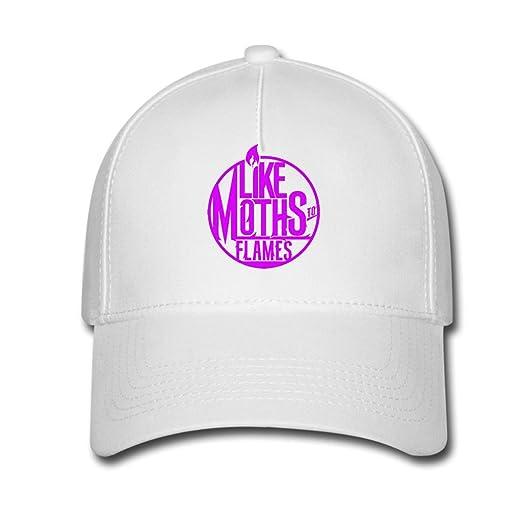 Amazon.com  TERE Like Moths To Flames Band Unisex Snapback Caps ... 521d90aeaa28
