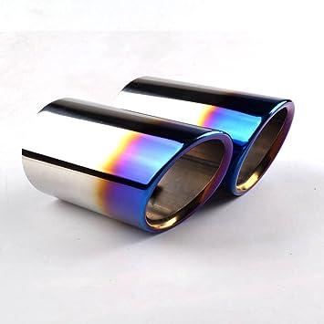 RunQiao 2 x Acero Inoxidable Silenciador Terminales Embellecedores de Tubo de Escape Cola de Punta (