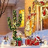 Tangkula Árbol de Navidad Artificial con Base Metálica Material PVC Decoración para Navidad Hogar Fiesta