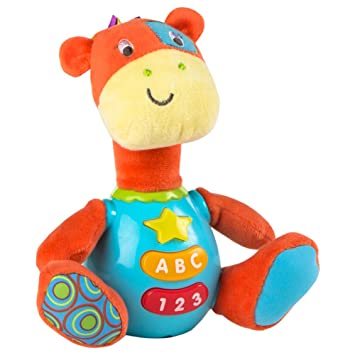 Winfun - Peluche Jirafa para bebés que habla   luces de colores - Idioma   español ee937265d7ea