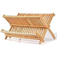 2 Katlı Bambu Bulaşıklık Tabaklık