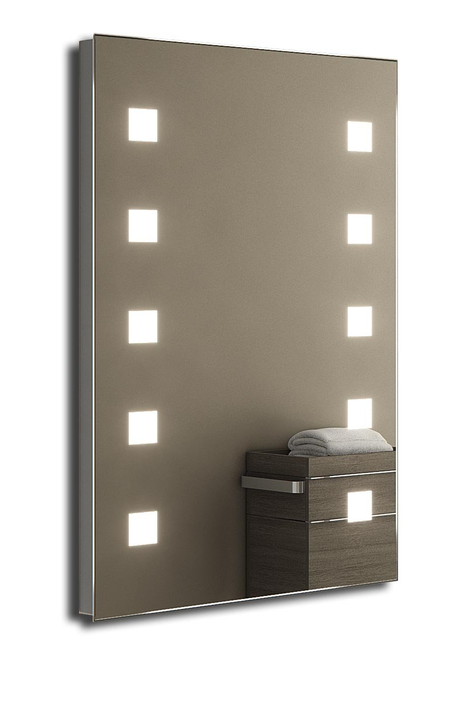 durable service Veena Shaver LED Bathroom Mirror With Demister Pad & Sensor k210i