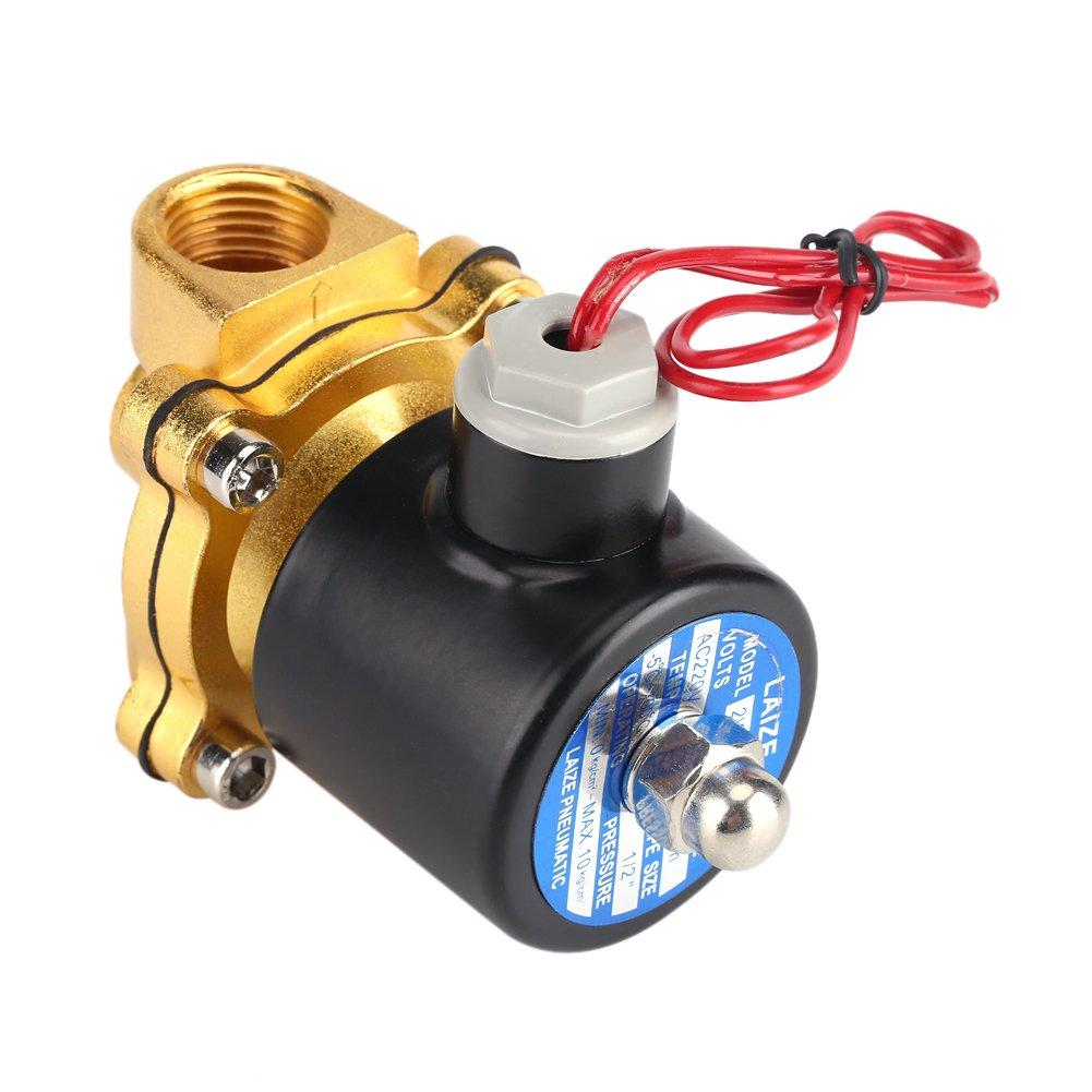 220V DN1/2 \' Electrovanne Normalement Fermé e Valve É lectrique É lectromagné tique en Alliage de Zinc pour le diesel de gaz d'air d'huile d'eau Zerodis