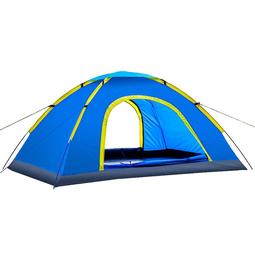 SANDM 2-personen-zelt Für Outdoor-sportarten,Campingzelt Doppeltür Kuppelzelte Portable Water Resistant Fiberglas Zelt Paar Casual Camping
