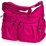Volcanic Rock Shoulder Bag Corss-body Purse Waterproof Nylon Travel Handbags with Zipper for Women