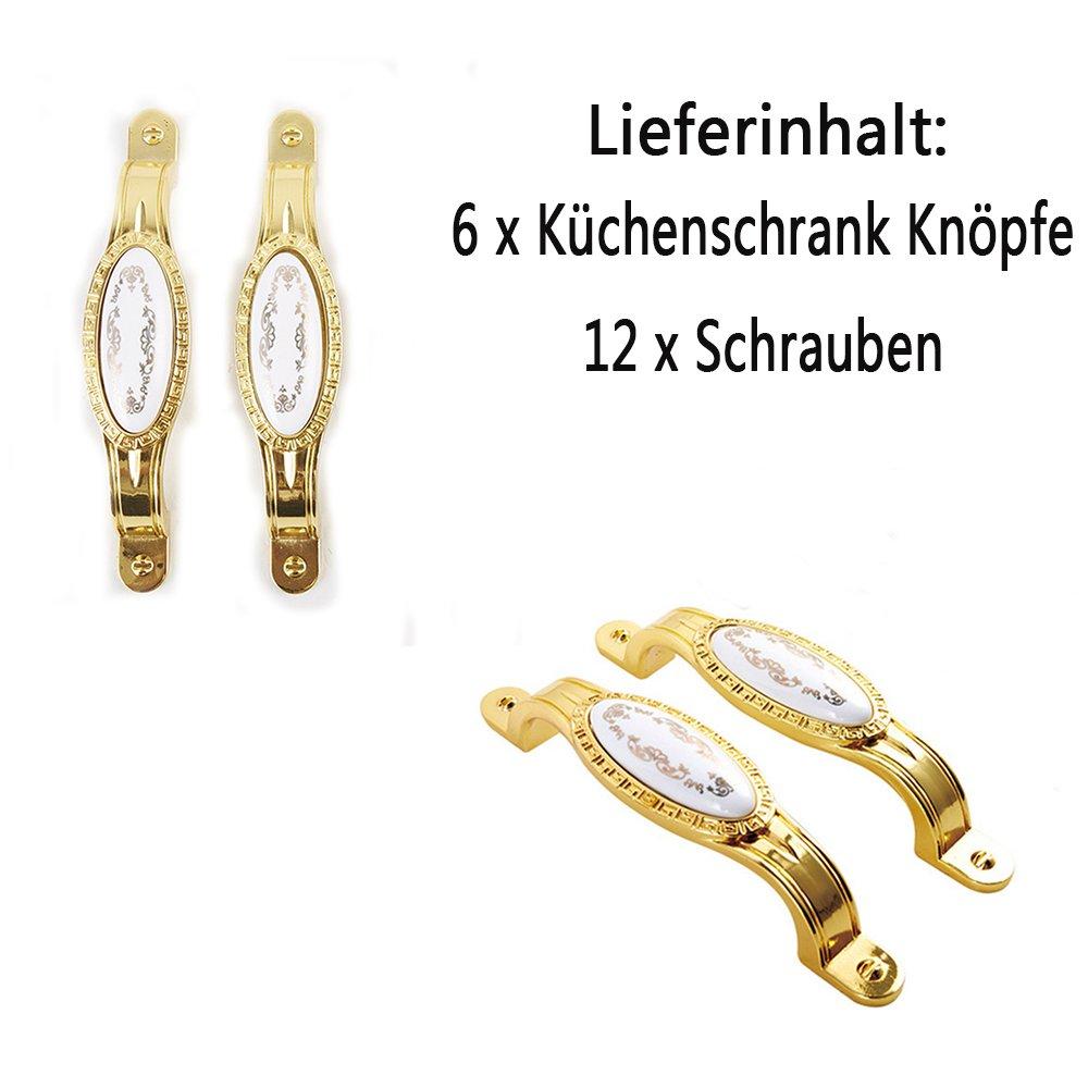 Schrank Handgriff//T/ürzuziehgriffe//K/üchenschrank Kn/öpfe OFT 6 St/ück 96mm Weinlese//Vintage Zink Legierung Keramik-Riss Elegante Dekoration M/öbelKnopf Bronzefarbe