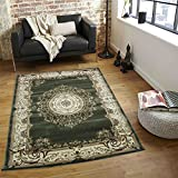 Sage Green Persian Floral Oriental Formal Traditional Area Rug 5×7 ( 5'3″ x 7'3″ ) Easy to Clean Stain / Fade Resistant Shed Free Living Dining Room Rug Tabriz 415 Sage Green Review