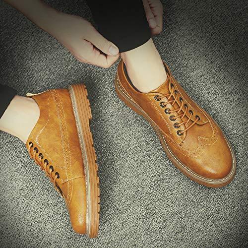 LOVDRAM Stiefel Männer Winter Herrenschuhe Herbst Mode Wilde Dicke Warme Baumwolle Schuhe Mode Lässig Business Schuhe