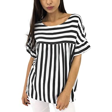 4ac554ee802 Image Unavailable. Image not available for. Color  Clearance! Women Blouse  JJLOVER Striped ...