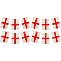 My Planet 24 x England St George Premium Quality Flag Bunting Huge 10m Party Decoration Banner