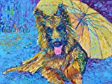 Dog Painting Pet Wall Art Animal Portraits OIL ON CANVAS Original Genuine Hand Painted Impressionist
