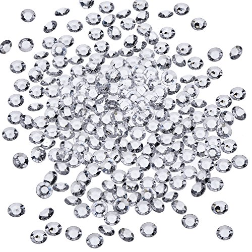 (Sunmns 2500 Pack 6 mm Clear Acrylic Diamond Scatters Crystal Table Confetti for Weddings, Bridal Shower, Birthdays, Party, Romantic)