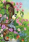 Toland Home Garden Watering Time 28 x 40 Inch Decorative Cute Spring Bird