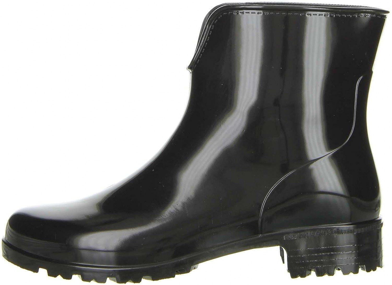 35004b1fdf59 G G Damen Stiefeletten Gummistiefeletten schwarz  Amazon.de  Schuhe    Handtaschen
