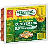 Nathan's Famous The Original Coney Island Beef Frankfurters, 20 oz 3 pack