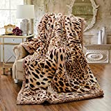 Double thick Warm winter blanket quilt Single Twin bed linens blankets and thick double wedding Children baby spring and autumn winter ,200230cm 8 catty, yellow leopard
