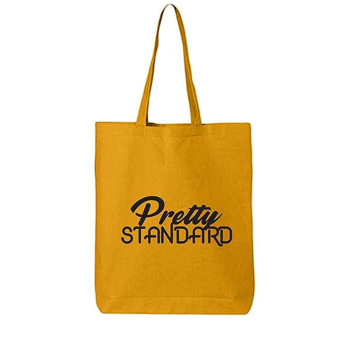 Amazon.com: Bonita bolsa de lona de algodón estándar., talla ...