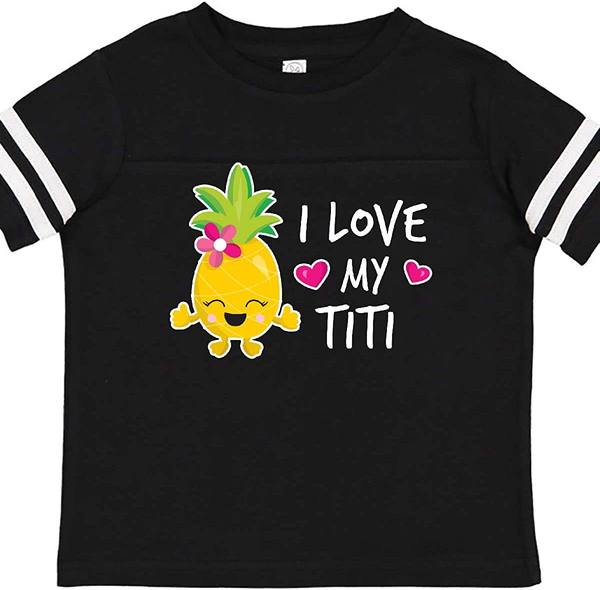 inktastic Valentines Day This Llama Loves Her Titi Toddler T-Shirt