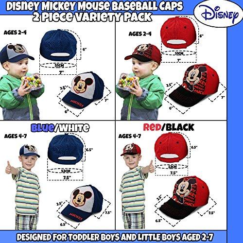 Disney Little Boys Assorted Character Cotton Baseball Cap, 2 Piece Design Set, Age 2-7 (Toddler Boys – Age 2-4 – 51 cm, Mickey Mouse Design – 2 Piece Set) by Disney (Image #3)