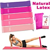 Vidence Resistance Bands, Resistance Bands for Legs and Butt Exercise Bands, Home Fitness, Crossfit, Stretching, Strength Training, Physical Therapy, Natural Latex Workout Bands.