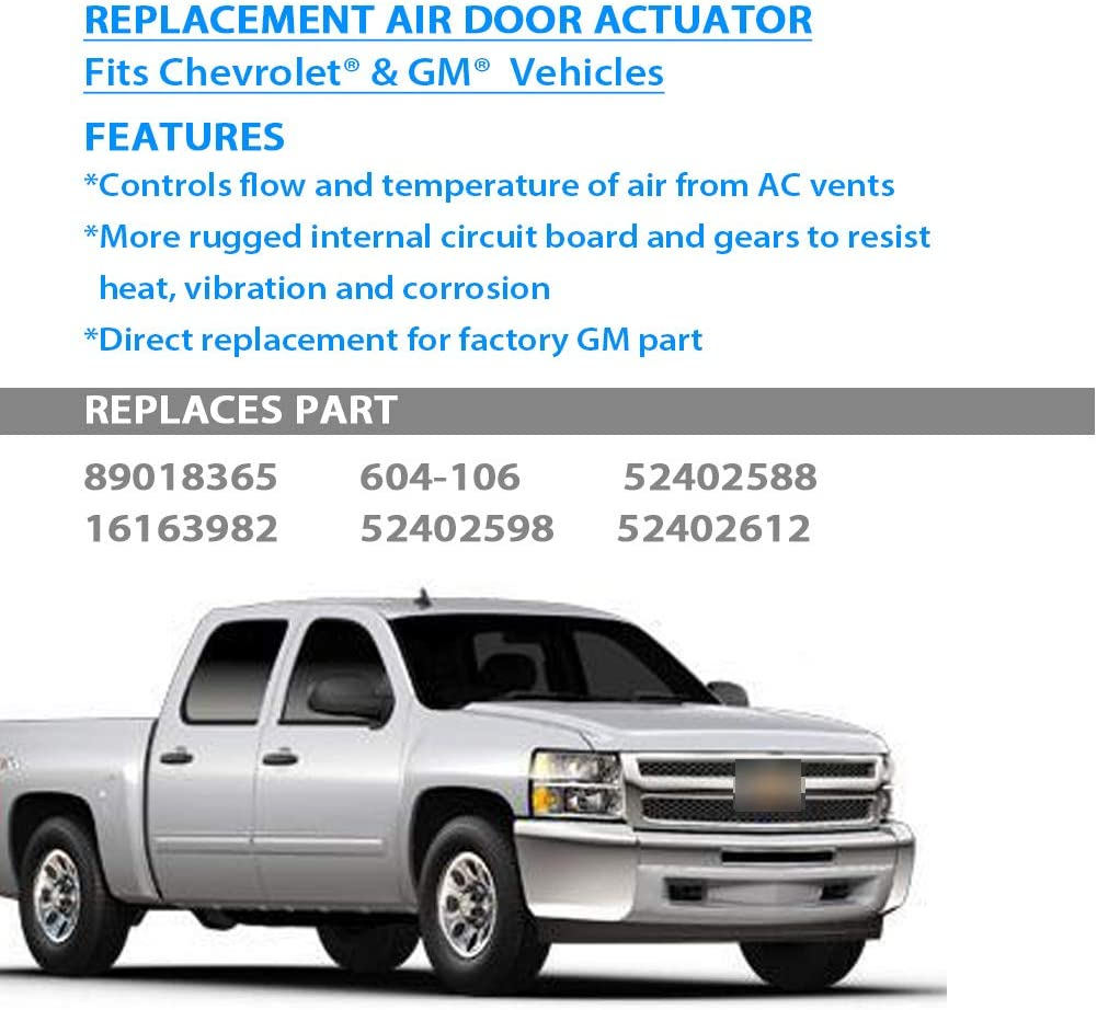 1573989 HVAC Air Door Actuator AC Blend Control Motor Fits Chevy GMC Silverado