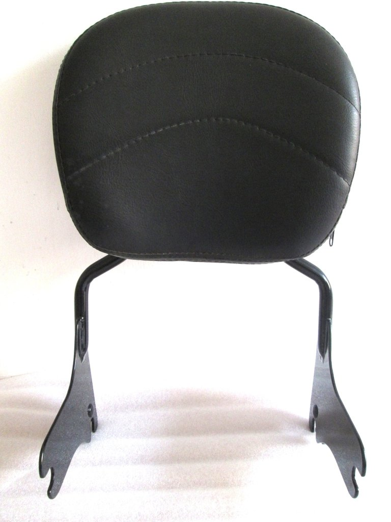 USA Y17.N2 BLACK SISSY BAR BACKREST 4 HARLEY TOURING ROAD KING STREET ELECTRA GLIDE FLHT 97-08