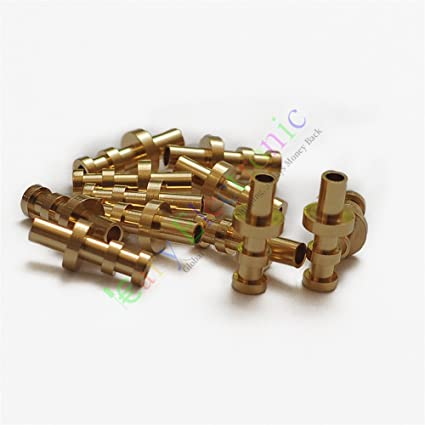 Amazon com: Cayyi 50pc copper plated Gold Turret Lug for 3MM