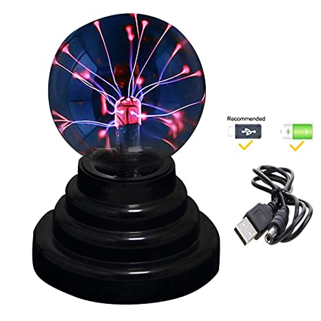 Amazon.com: RioRand Plasma Ball - Lámpara de pared (USB ...
