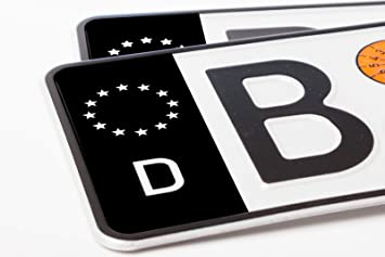 Ritter Mediendesign 2 Stück Nummernschild Kennzeichen Aufkleber Eu Feld In Schwarz überkleben Auto
