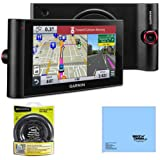 """Garmin nuviCam LMTHD 6"""" GPS Navigation System with Built-in Dashcam, Maps & HD Traffic (010-01378-01) Bundle with Garmin Portable Friction Mount and Cleaning Cloth"""