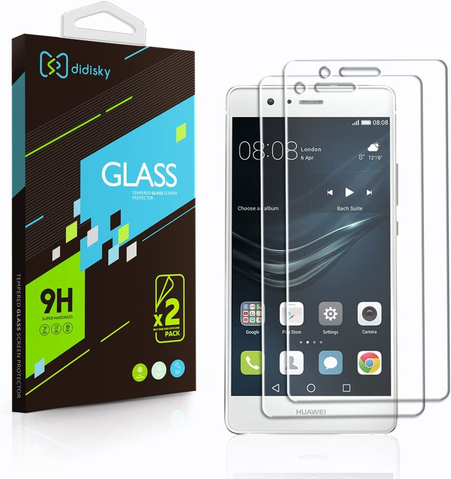 2 Pack Vetro Temperato Huawei P9 Lite,Didisky Pellicola Protettiva in Vetro Temperato Per Huawei P9 Lite Smartphone [Tocco Morbido ] Facile da Pulire, Facile da installare