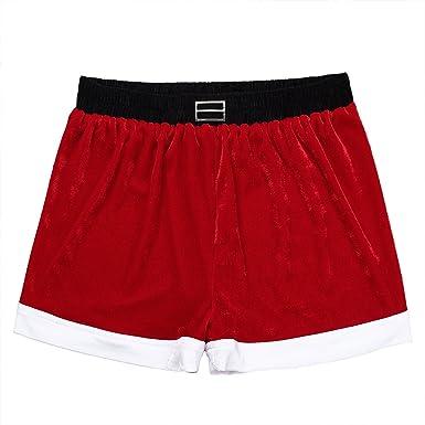 7a2831bc264f Amazon.com: YiZYiF Mens Flannel Christmas Holiday Santa Claus Shorts Boxer  Lingerie Underwear: Clothing