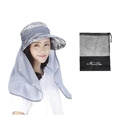 470bab003fb18 JINTN Womens Fishing Hat 360°UV Protection Sun Hat Large Brim Foldable UPF  50+
