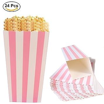 De Del Cartón 24pcs Boxes Popcorn Partidorosado El Bolsas Papel Para Envases PalomitasOuinne Sostenedor Cajas Maíz IbeH2E9YWD