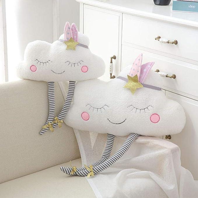 Lihan Almohada Instagram Forma de Nube nórdica Nursery Cojines de 100% Peluche bebé Juguetes Regalo decoración sofás niños Dormitorio Auto Throw, Nube ...