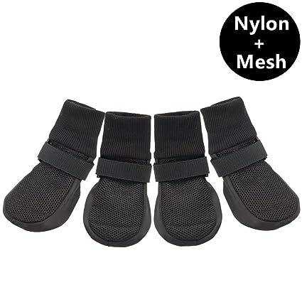 Amazon.com   Ulandago Upgrade Breathable Mesh Soft Sole Dog Boots ... c6185d1aa