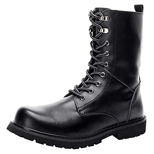 Women/'s Classic Boots Mens//Womens High Top Motorcycle Mid Calf Boots Shoes