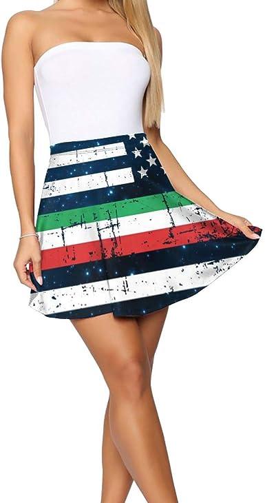 Falda para Mujer con diseño de la Bandera de Estados Unidos ...