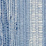 DII VARIEGATED RECYCLED YARN 2x3 FT Rug, Blue