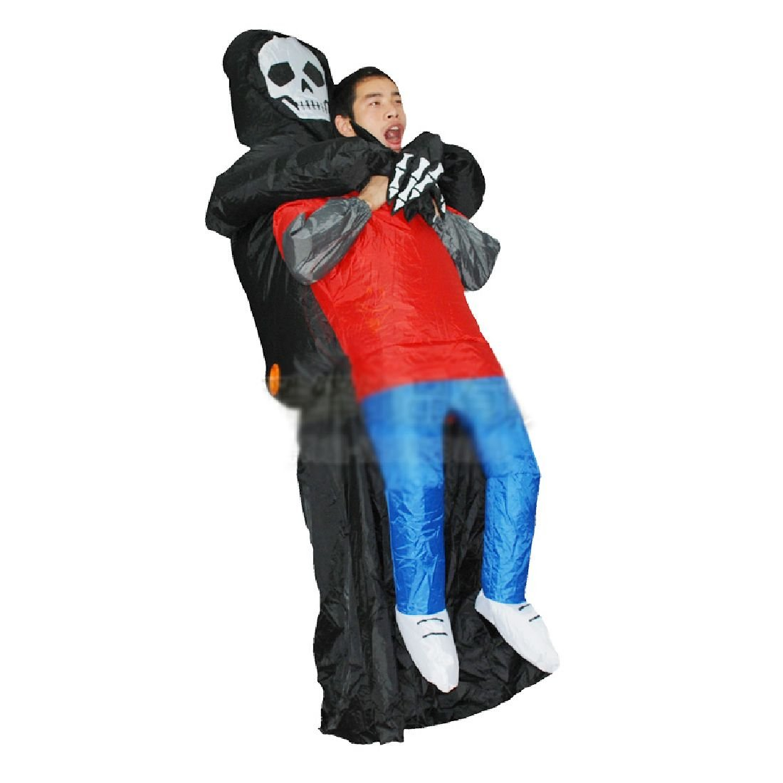 Skull Man Costume Inflatable Ghost Clothes Purim Carnival Parade Costumes