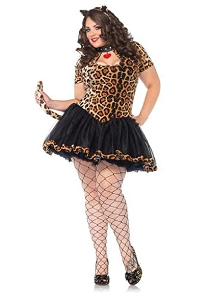 Women's 2 Piece Tantalizing Tabby Keyhole Tutu Dress, Leopard,