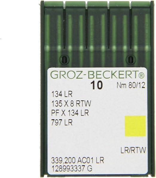 GROZ beckert machine à coudre industrielle aiguilles 134R DPX5 taille 12 80