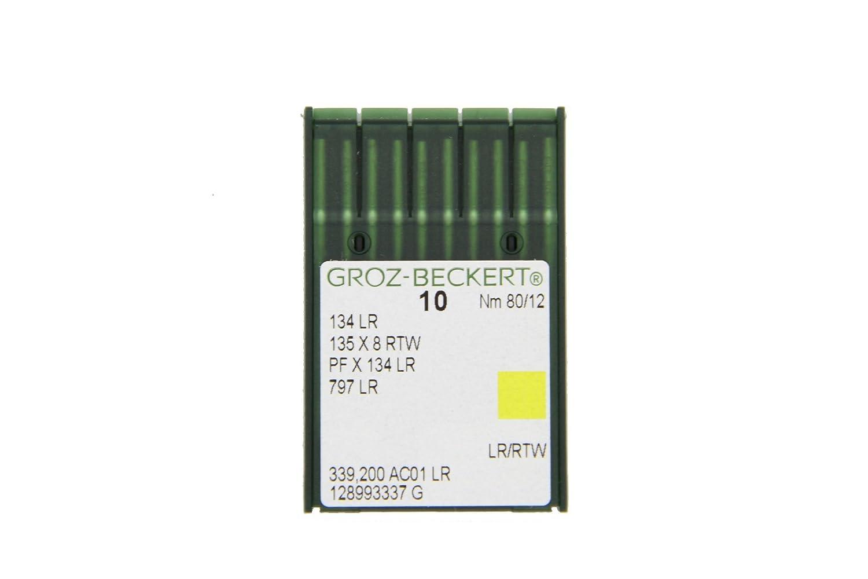 Groz-Beckert Paquete de 10 Piel de Agujas 134 LR con pistó n y Redondo schneidsp precortador para la Industria Má quinas de Coser, NM. 70/10