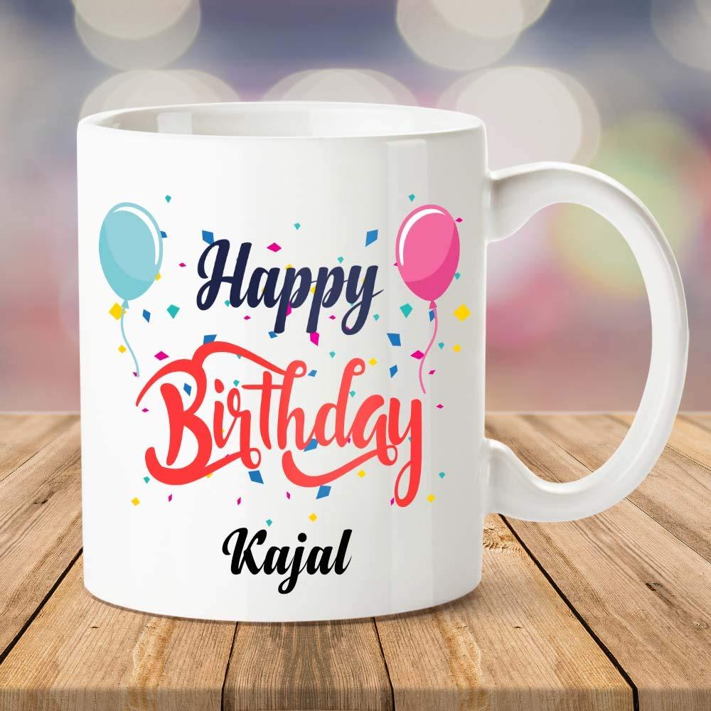 Buy Ibgift Happy Birthday Kajal Coffee Name Mug 350 Ml White Mug Online At Low Prices In India Amazon In