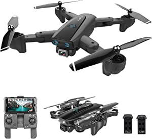 GoolRC CSJ S167 GPS Drone, 5G WiFi FPV RC Drone with Camera 4K HD Gesture Photos Video, Auto Return Home, Altitude Hold, Follow Me RC Quadcopter for Adults with 2 Batteries