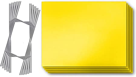 """YELLOW CORRUGATED BLANK SIGN SHEET 4MM X 18/"""" X 24/"""" VERTICAL SIGNS 50 Pack"""